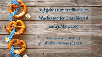Wackersdorfer Starkbierfest - Jetzt Karten reservieren!