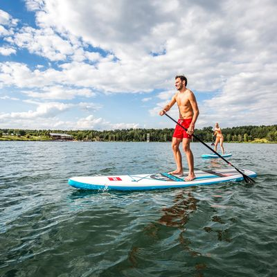 Standup Paddling am Steinberger See